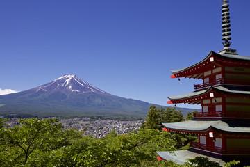 Mt. Fuji viewed from Sengen shrine in Japan