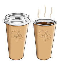 Coffee to go. Kaffee. groß