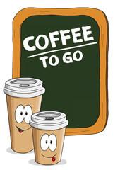 Coffee to go Tafel, Comic