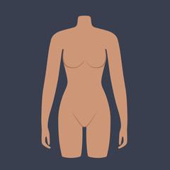 Woman mannequin torso flat style