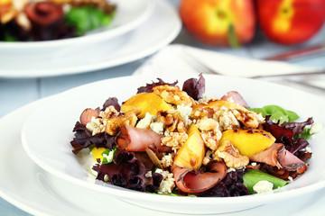 Peach, Gorgonzola And Pastrami Salad
