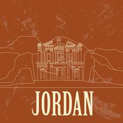 Jordan. Retro styled image