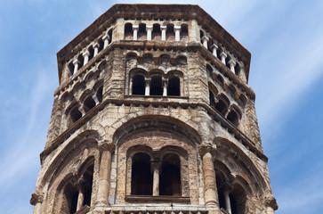 Bell tower, San Donato church. Genoa.