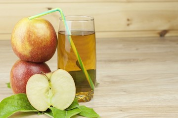 fresh apple juice, cool summer refreshment