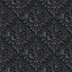 Vector damask seamless pattern background. Elegant luxury