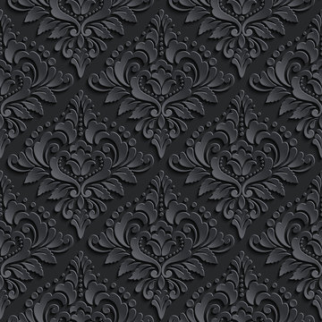 Vector damask seamless pattern background. Elegant luxury