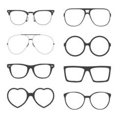 Vector set of sunglasses frames