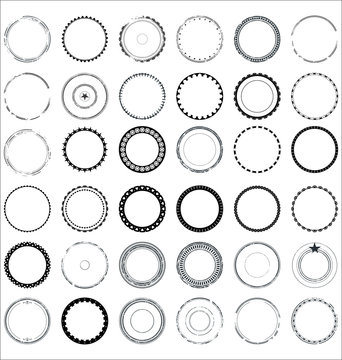 Collection of round and circular decorative patterns