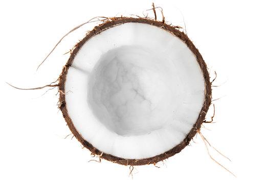 Half of coconut top view