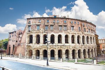 Marcello and Portico Theatre in Rome, Italy.