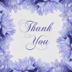 Thank you - Flower frame on white background