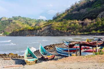 Fishing boats on the northern coast of Ecuador