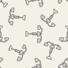 hanging lamp doodle seamless pattern background