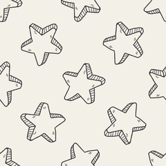 star doodle seamless pattern background