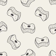 scouring pad doodle seamless pattern background