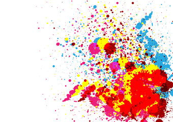 Abstract  paint color and splatter color background