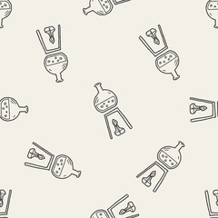Doodle Test tube seamless pattern background