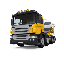 Yellow Concrete Mixer Truck