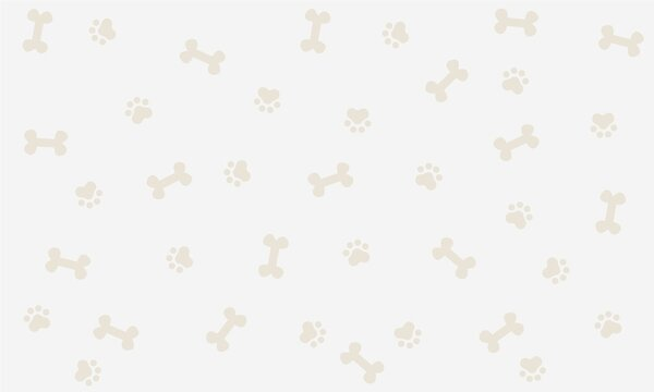 Seamless background with bone and footprint dog, background, wallpaper, graphic design, illustration