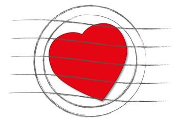 Briefstempel mit Herz