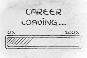 funny progress bar with career loading