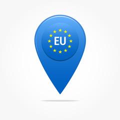 European Union Pin Icon