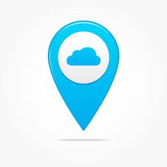 Cloud Pin Icon