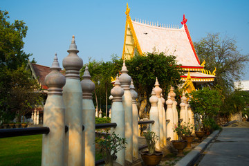 The temple complex of Phra Narai the city of Nakhon Ratchasima. Thailand.