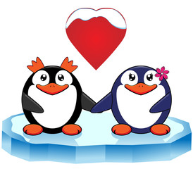 Penguins in love