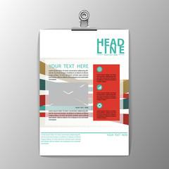 A4 brochure template design, business corporate background flyer
