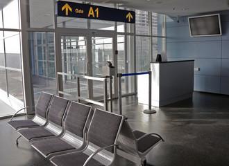In de dag Luchthaven Airport gate