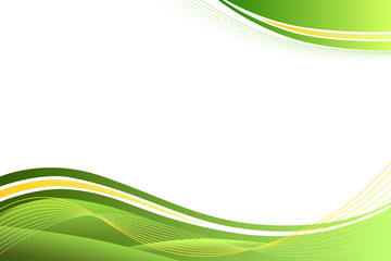 Green yellow abstract background lines waves