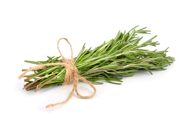 Rosemary bunch with a jute rope