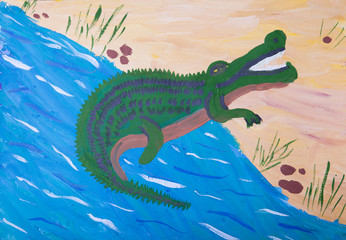 child picture of crocodile
