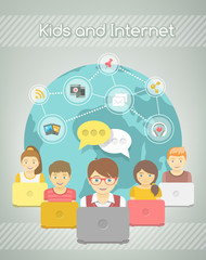 Kids Social Networking on the Internet of Group with Computers