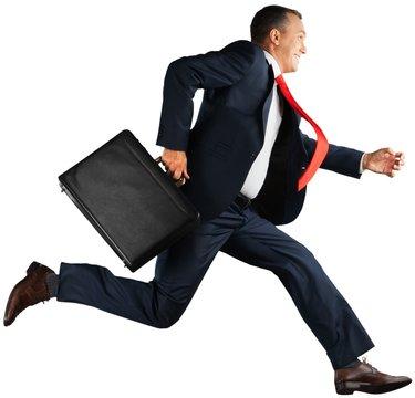 Running, Men, Business.