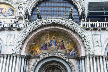 VENICE, ITALY. Architectural details of St. Mark's Basilica