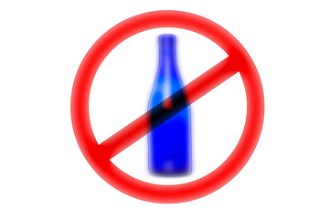 No alcohol sign. Illustration on white background