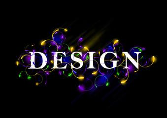 Wallpaper background design typography. light