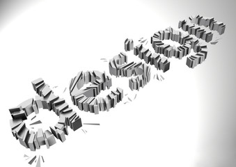 Wallpaper background design typography. cracked