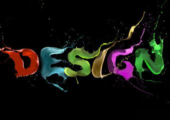 Wallpaper background design typography. paint