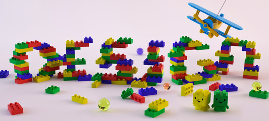 Wallpaper background design typography. lego