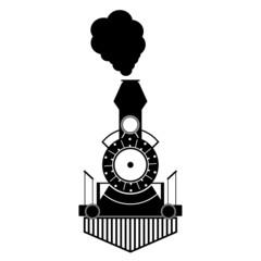 train antique black vector