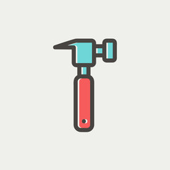 Hammer thin line icon