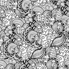Hand drawn Zentangle seamless pattern. Use for cards, invitation, wallpapers, pattern fills, web pages elements and etc.