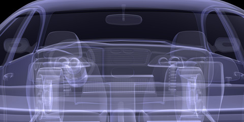 X-ray of car model