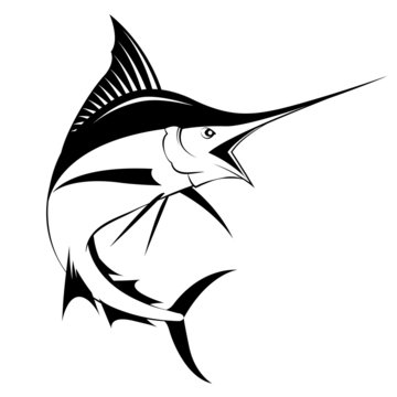 marlin fish, vector