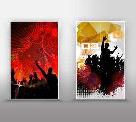 Music event banner set