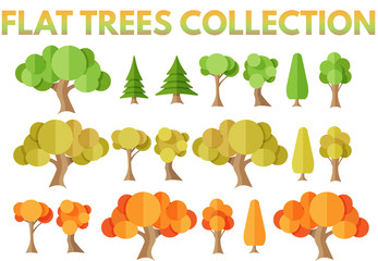 Flat trees collection