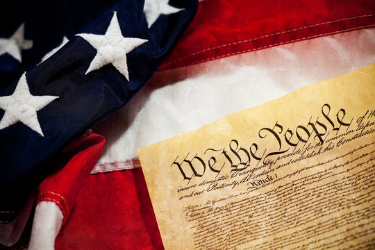 "Constitution: ""We the People"" Heading of Constitution with Copys"
